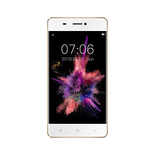 KEN XIN DA V6 Dual SIM Unlocked Smartphone 4.5 Inches Display Android 7.0 8G+1G Memory GSM 3G Cell Phones (Gold) … by KEN XIN DA