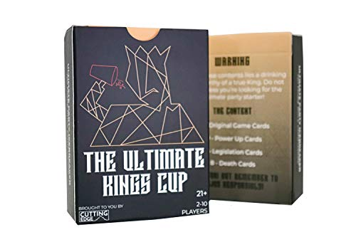 ⭐The Ultimate Kings Cup⭐ - The World's Most Drunk Renowned Adult Drinking Party Game with The New Value 26 Card Expansion Themed Cards! ✔️Power-up, ✔️Legislation, ✔️Death ()