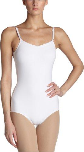 Capezio Women's Camisole Leotard With Adjustable Straps,White,Small