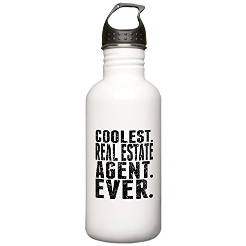 CafePress - Coolest. Real Estate Agent. Ever. Water Bottle - Stainless Steel Water Bottle, 1.0L Sports Bottle
