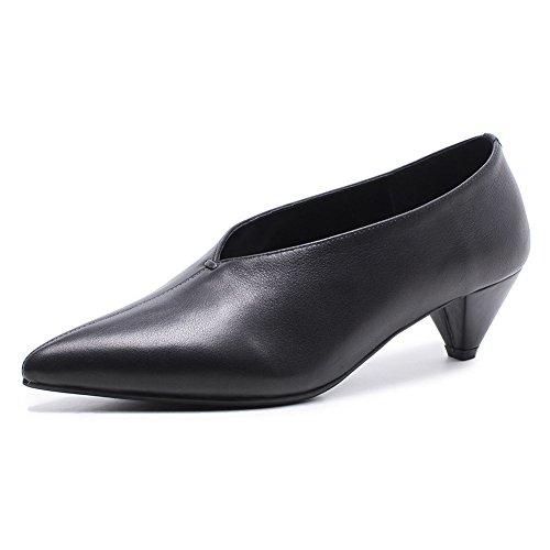 Talons Haut Jane Escarpin 19 WSXY Chaussures Hauts Mariage Talon Black Femme Club KJJDE Mary Basique Fête 36 Plateforme CSOn5fwW8