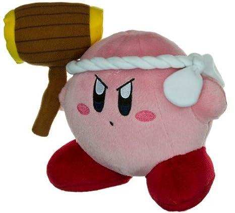 Amazon.com: Hammer Kirby ~6 Mini-Plush by Kirby: Toys & Games