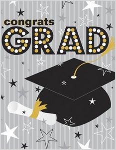 amazon com greeting card graduation grad hat grey stripe congrats