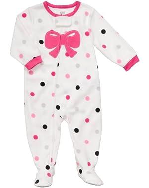Girl 1 Piece Footed Pajamas