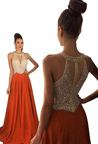 orange formal dresses for juniors - 8