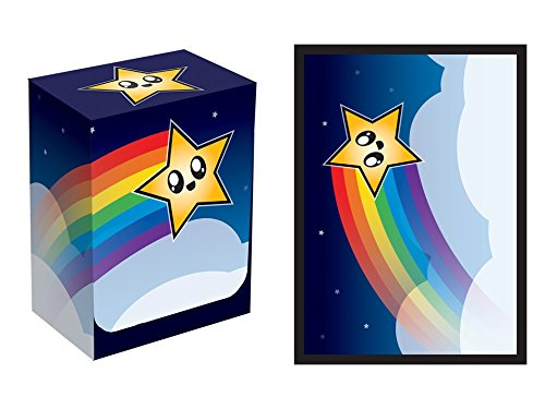 100 Legion RAINBOW STAR Deck Protectors & Deck Box Combo Set Legion Supplies Matte Sleeves 2-Packs - Standard Magic the Gathering Size