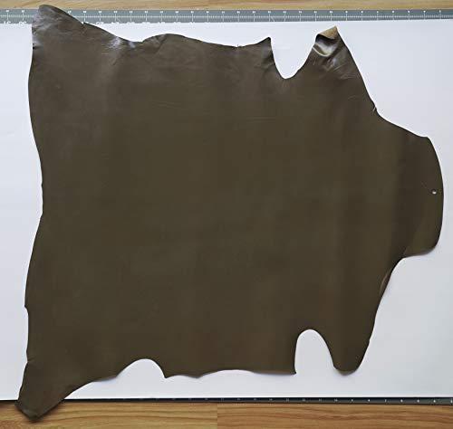 Deerskin Leather Hide - Kid Skin Goat Leather Hide Dark Brown Italian 3-5 sq.f Shoes Bags Wallets