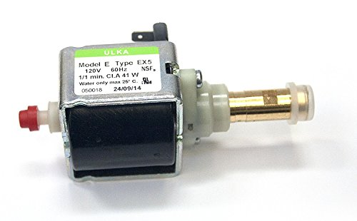Ulka EX5 Solenoid Vibratory Pump 120V 41W - Brass Output - Suitable for Rancilio Silvia Espresso Machine ()