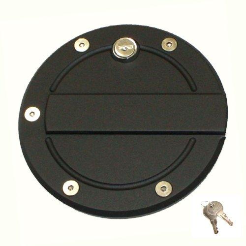 All Sales (6159KL) Fuel Door, Black, Billet