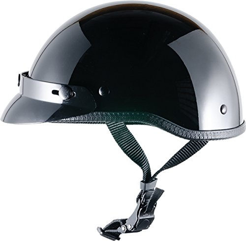 CRAZY AL'S WORLDS SMALLEST HELMET SOA INSPIRED IN GLOSS BLACK WITH VISOR SIZE LARGE