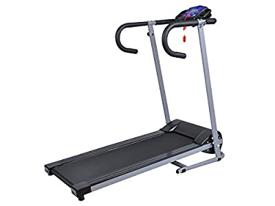 New Goplus 500W Folding Electric Treadmill Portable Motorized Running Machine Black