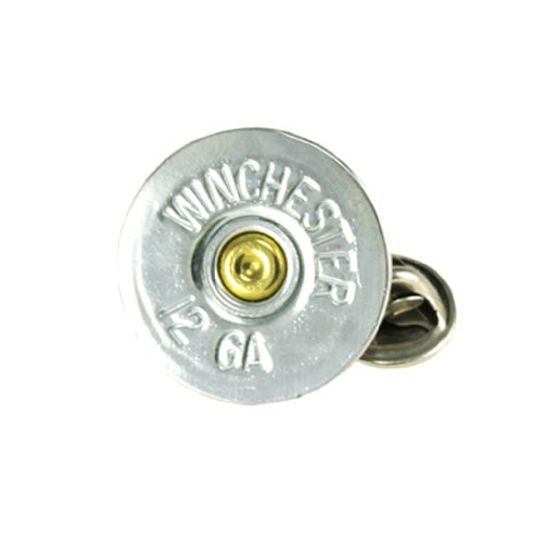 Winchester 12 Gauge Nickel Shotshell Tie Tac-Hat ()