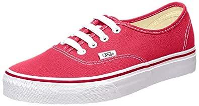 Vans Unisex Black/Black Skate Shoe (5 D(M) US, Red)