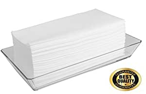 Disposable Guest Towels 100 Pack Linen Feel Hand Napkins Air Laid