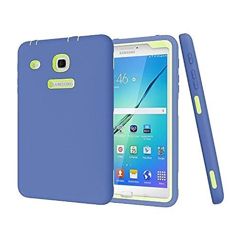 Galaxy Tab E 8.0 Case, Hocase Double Layer Rugged Hard Rubber Protective Case Cover for Samsung Galaxy Tab E 8.0