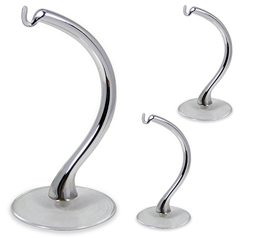 Silver Glass Ornament Display Stands - Set of 3
