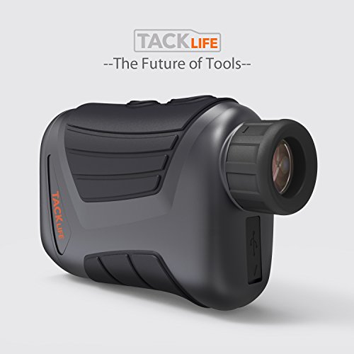 TACKLIFE MLR01 900 Yard Laser Rangefinder - Golf Range Finder with USB Charging, 1/4'' Mounting Thread, Water Resistant, Ranging/Speed/Scanning Model for Golf, Hunting, Outdoor Using