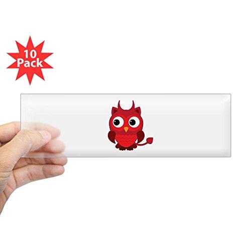 Bumper Sticker Clear (10 Pack) Little Spooky Owl Devil Monster -