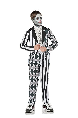 Underwraps Big Girl's Boy's Sinister Evil Clown Costume - Small Childrens Costume, Multi, (Sinister Clown Costumes)