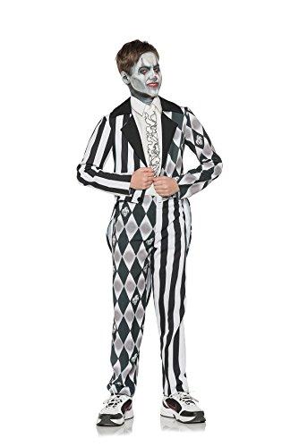 Underwraps Big Girl's Boy's Sinister Evil Clown Costume - Small Childrens Costume, Multi, Small
