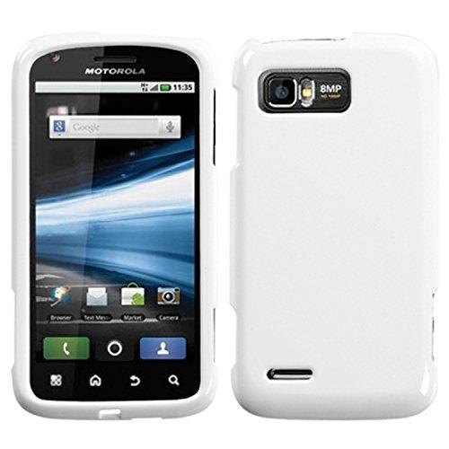 Asmyna MOTMB865HPCSO058NP Premium Durable Protective Case for Motorola Atrix 2 MB865 - 1 Pack - Retail Packaging - Ivory (Metallic White Faceplate)