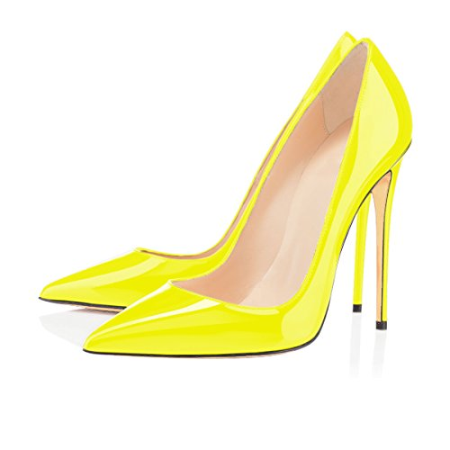 Talon Femmes Taille Chaussures Grande Aiguille Jaune Stilettos Ubeauty Talons Femme new Escarpins xI0gRR