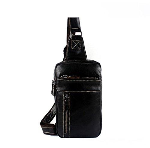 Sucastle Small Leather Man Bag, Backpack Genuine Leather Handbags, Shoulder And Chest, Shoulder Bags, 14x5.5x24cm Resistant Bag, # 1