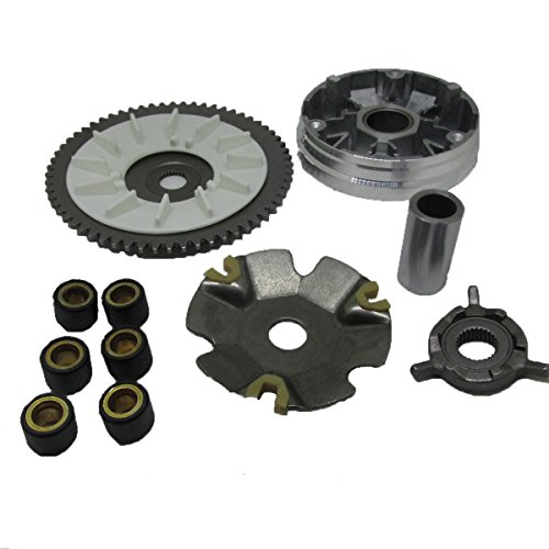 Variator Kit (Complete 49cc 50cc Variator Kit with 4.5g Weights Gy6 Engine Qmb/139 Performance 4 Stroke Scooter)