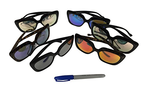 977820127f Free S H Sunglasses - Unisex Fashion Icon Square Frame with Reflection  Color Lens in Assorted Color with One Dozen (12 Pieces) - Buy Online in Oman .