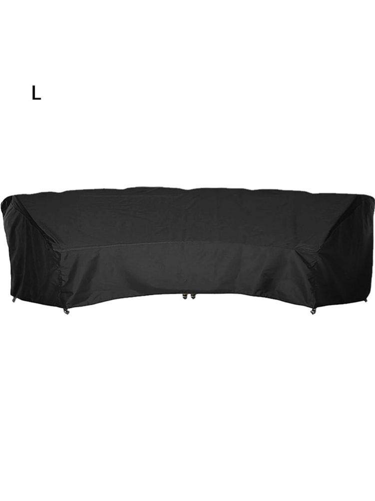 Waterproof Reinforced Patio Sectional Sofa Cover Curved Lawn Patio Furniture Protective Cover for Outdoor Use Outdoor Sectional Couch Covers