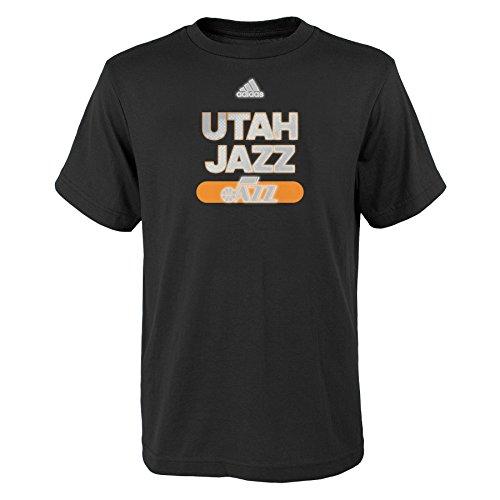 NBA Reflective Authentic Short Sleeve Tee-Black-S(8), Utah Jazz ()