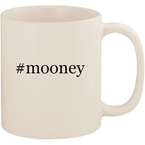 (#mooney - 11oz Ceramic Coffee Mug Cup, White)