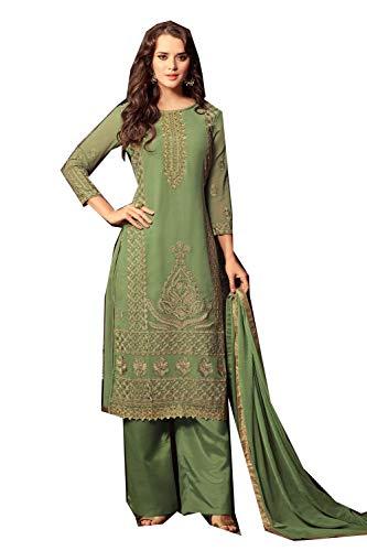 signer Partywear Women Ethnic Diwali Traditonal Rama Green Salwar Kameez. ()