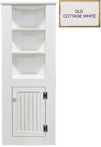 Sawdust City Tall Corner Cabinet (Old - Cottage White)