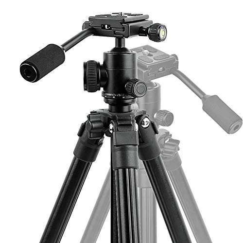 GWNNSH Compact Camera Tripod, Portable DSLR Projector Stand with Quick Release Plate, 360 Degree Ball Head and flip Leg Lock for Travel and Work