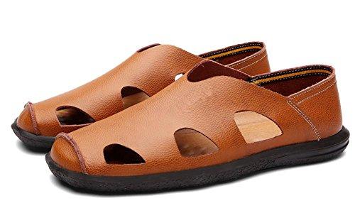 D'été Nouvelles Dans Cuir Sport Chaussures Sandales Les De 4 Sandales Hommes Hommes Creux Âgés Cuir En vrrTHqX