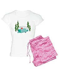 CafePress - Camper Scene Pajamas - Women's Light Pajamas