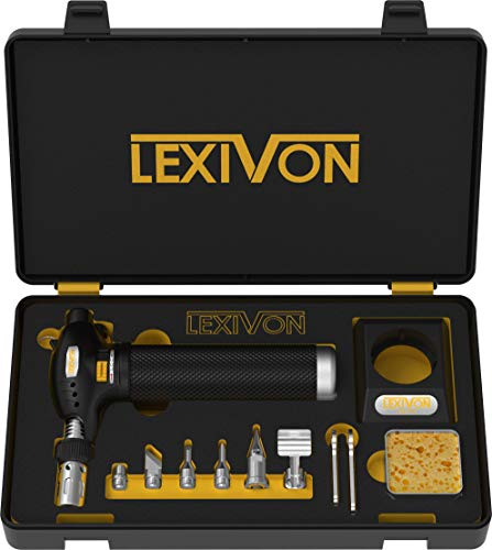 LEXIVON Butane Torch Multi-Function Kit | Premium Self-Igniting Soldering Station