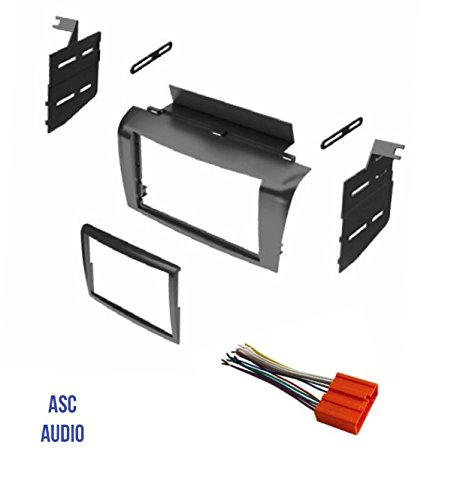 ASC Audio Car Stereo Radio Install Dash Mount Kit and Wire Harness for installing a Double Din Radio for 2004 2005 2006 2007 2008 2009 Mazda3 Mazda 3 ()