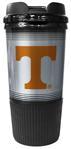 (GameDay Novelty NCAA Tennessee Volunteers Insulated Platinum Gripper Travel Tumbler with No Spill Flip Lid, 16 oz)
