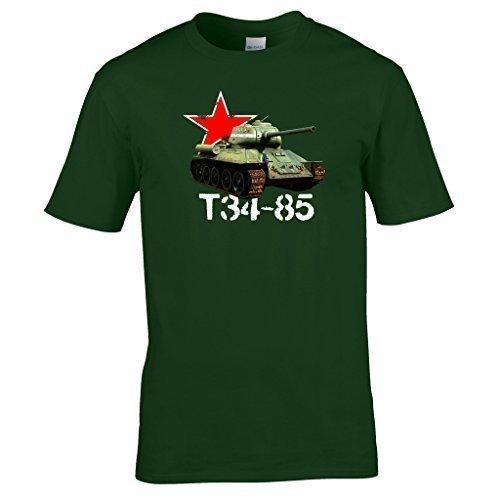 Fort ou pour Interest Russe Vtements 85 of Guerre Mondiale Naughtees Military Personne Idal Vert Un dans T34 Un Tank Plays Toute 2 World a Shirt t Vehicles Tanks Who wHIPfnnB