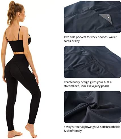 Relexioga Women's High Waisted Yoga Pants Naked Feeling Workout Leggings with Pockets 3