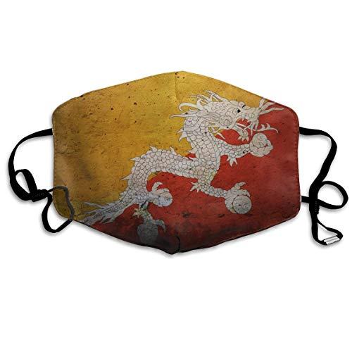 - Mouth Cover Mask Dragon of Bhutan Flag Fashion Anti Dust Half Face Masks