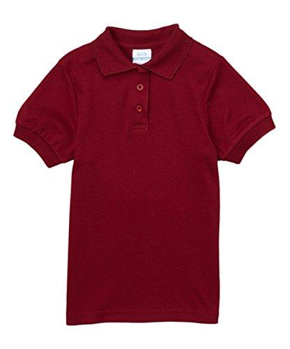 unik Girl's Uniform Polo Shirt Short Sleeve (Burgundy, 5) by unik (Image #1)