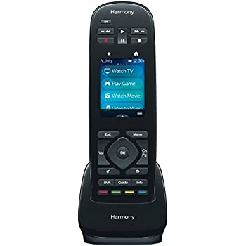 Logitech Harmony Ultimate One 15-Device Universal Infrared Remote with Customizable Touch Screen Control - Black (915-000224)