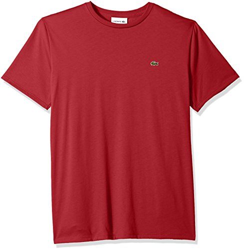 - Lacoste Men's Short Sleeve Jersey Pima Regular Fit Crewneck T-Shirt, TH6709-51, Intense, X-Large