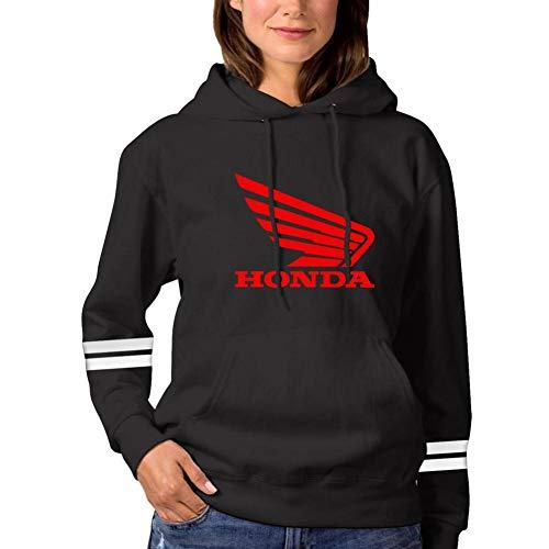 Honda Hoody Sweatshirt (Sokizhoy Womens Hoodie H-onda Car Logo Cool Long Sleeve Fleece Pullover Hoody Sweatshirt Black)