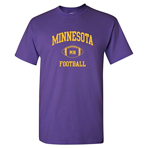 Minnesota Classic Football Arch Basic Cotton T-Shirt - X-Large - Purple