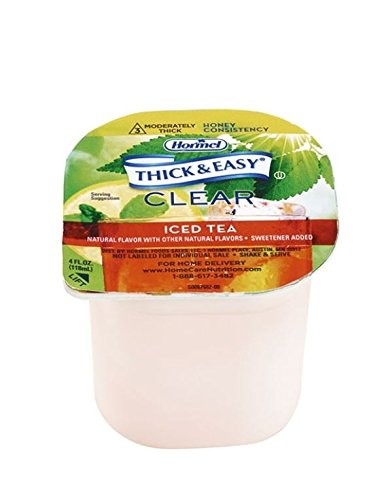 Hormel Health Labs Thick & Easy Clear Consistency Thickened Iced Tea, Honey, 4 Ounce (Pack of 24)