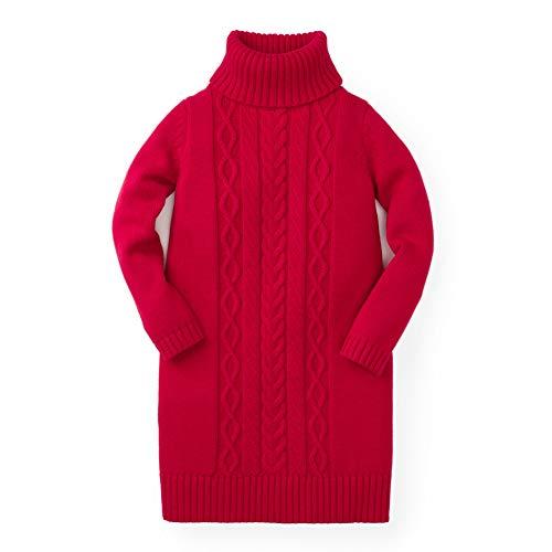 Hope & Henry Girls' Red Turtleneck Sweater